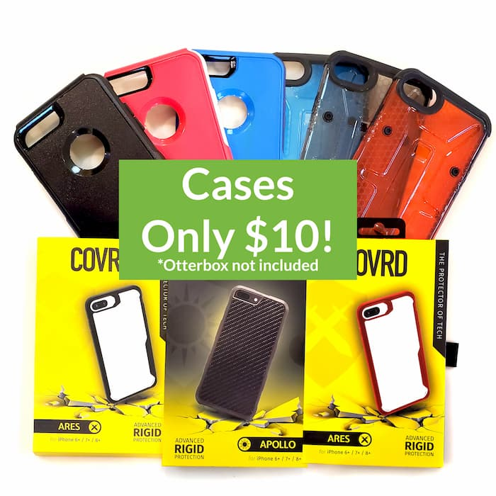 Cases, except Otterbox, are $10